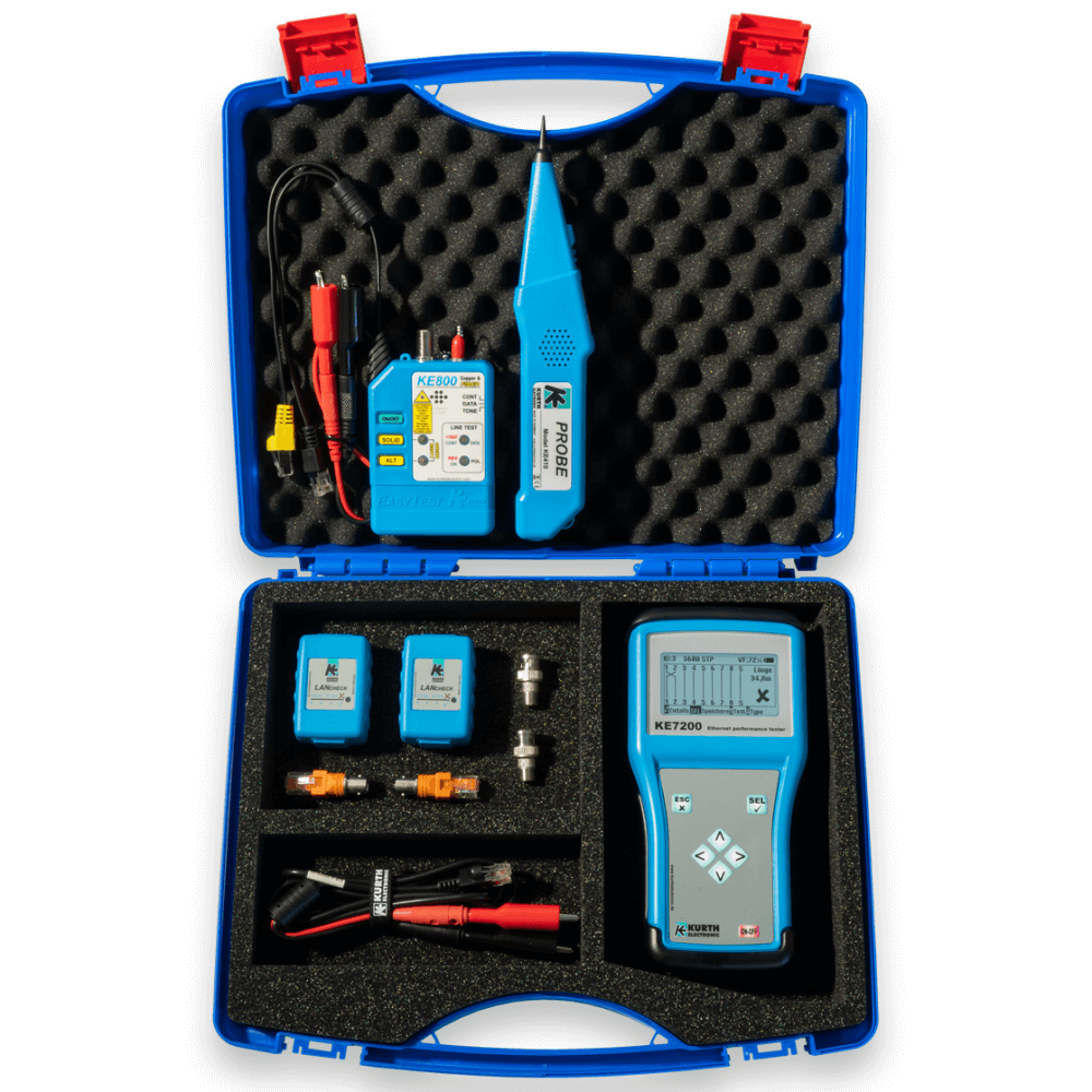 Ke7208 Network And Cable Finder Kit Kurth Electronic Power Over Ethernet Diagram Kits Poe Professional Sets For Installation Troubleshooting With The Ability To Create Individual Test Reports Perfect Solution Efficient Work In Active