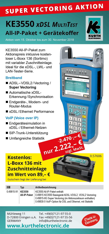 KE3550 xDSL MultiTest All-IP-Paket Herbstaktion