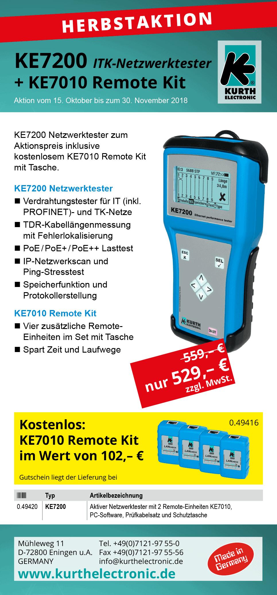 KE7200 ITK-Netzwerktester Herbstaktion