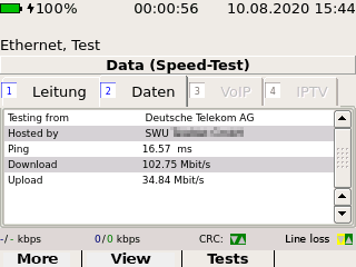 Screenshot IP-Speedtest