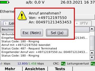 Screenshot VoIP-Anruf