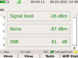 Screenshot Wi-Fi Q values