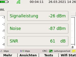 Screenshot WLAN-Messung